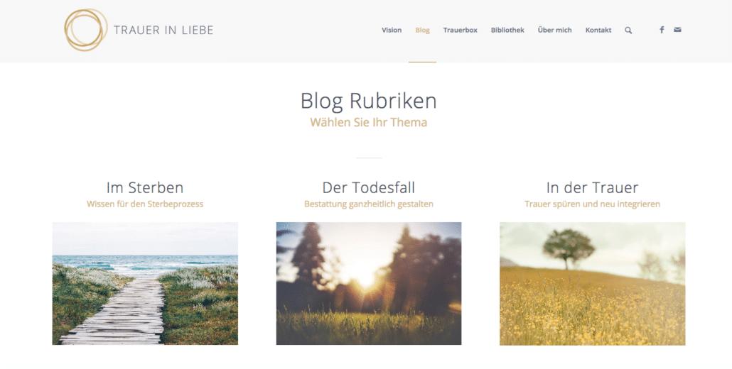 Trauer in Liebe Blog