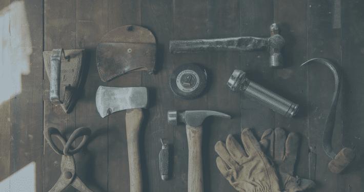 Hammer, Axt und weitere Handwerker Tools